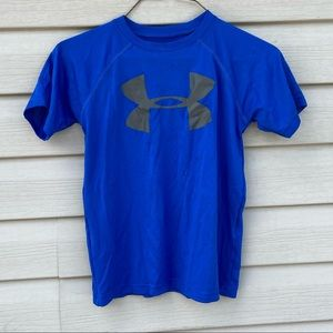 Under Armour Boys Youth XS T-Shirt Loose Fit Blue